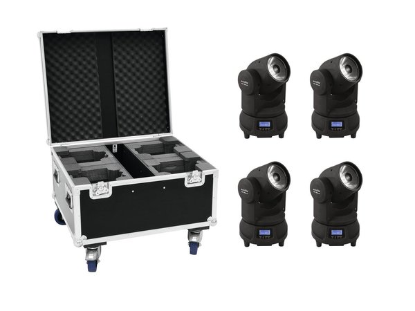 EUROLITE Set 4x LED TMH-X1 Moving-Head Beam + Case